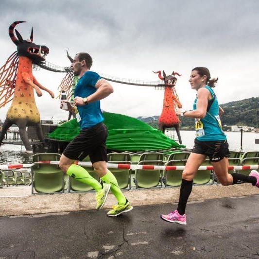 Die Dornbirnerin Sabine Reiner gewann zum zweiten Mal den Marathon am Bodensee.