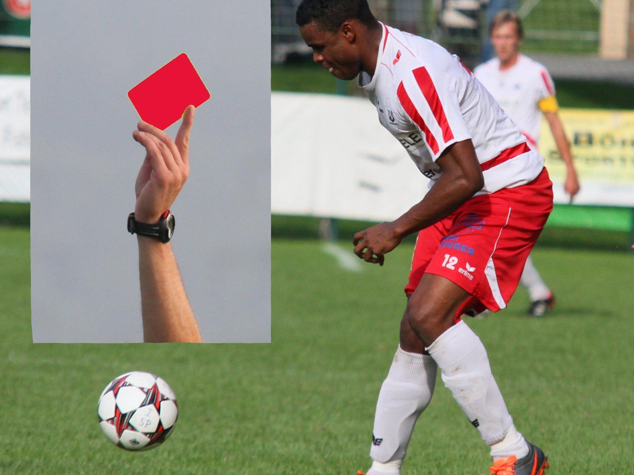 Der Rankweiler Stürmer Rafael Pereira Godoi muss sechs Spiele zuschauen.