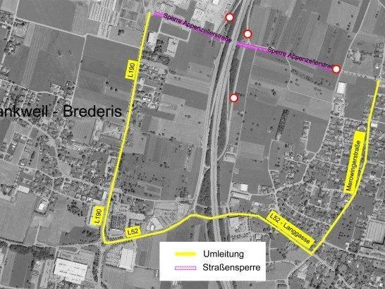 Autobahnanschluss in Rankweil gesperrt.