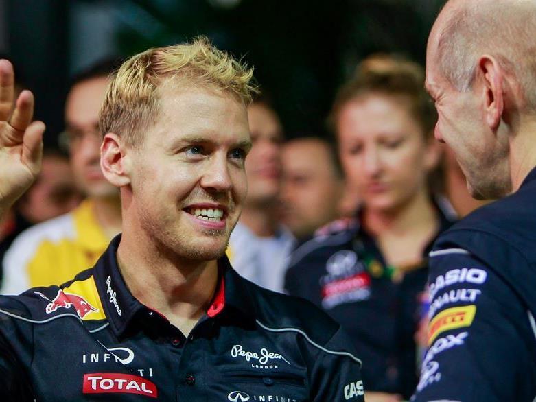 "Unaufhaltsam steuert Sebastian Vettel seinem 4. WM-Titel ""en suite"" entgegen."