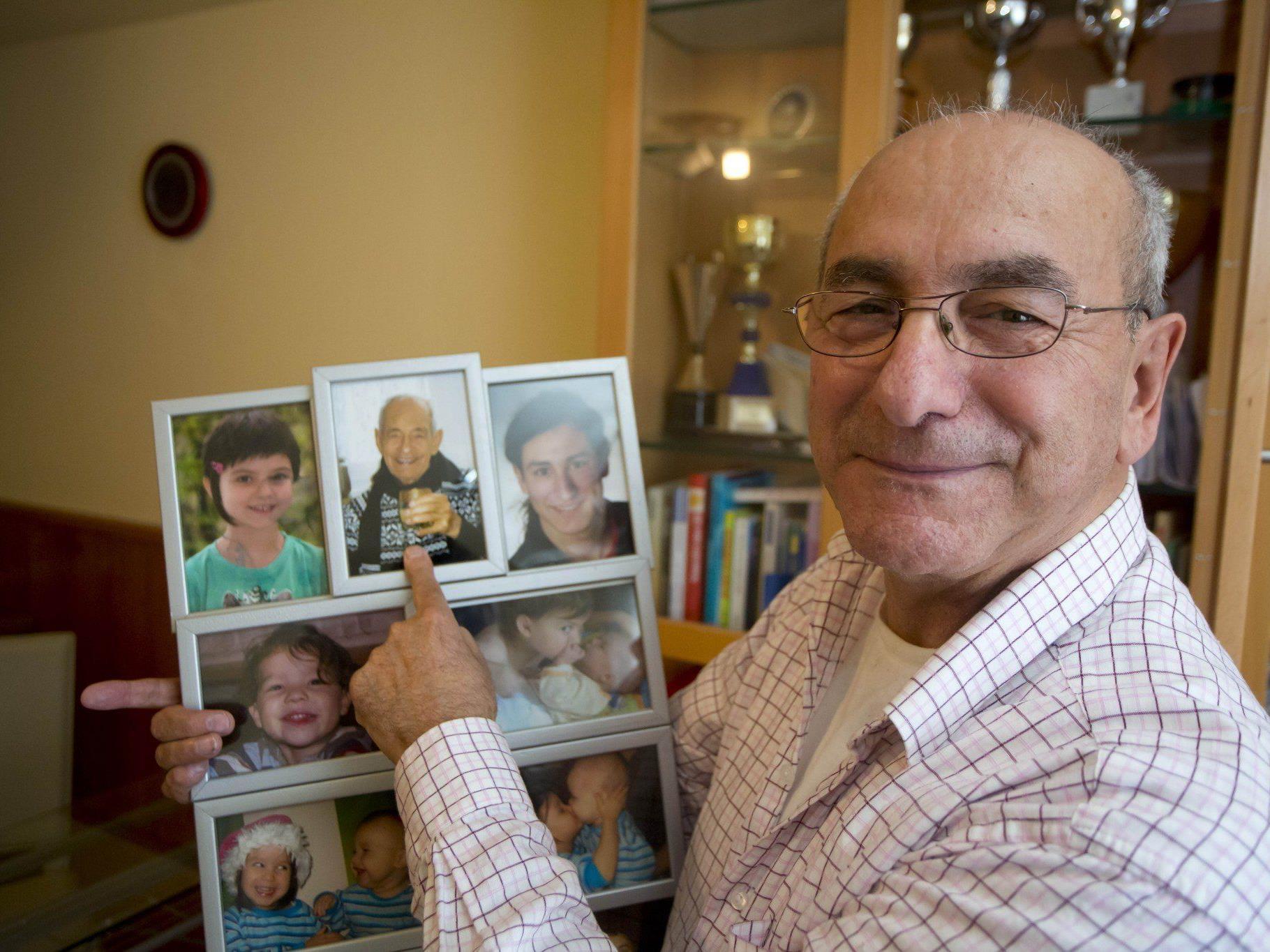 Alfred Hämmerle (67) ist stolz auf seinen Vater Johnny (93).