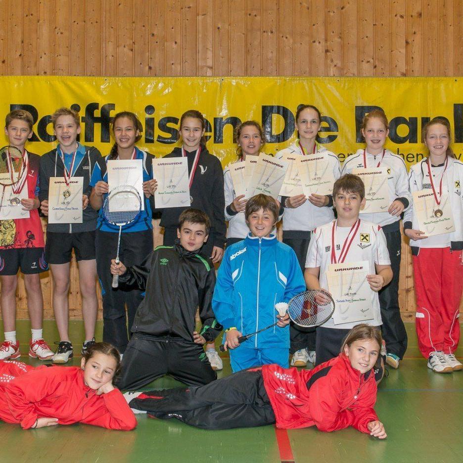 Alle Gewinner des zweiten österreichischen Ranglistenturnieres in Dornbirn.