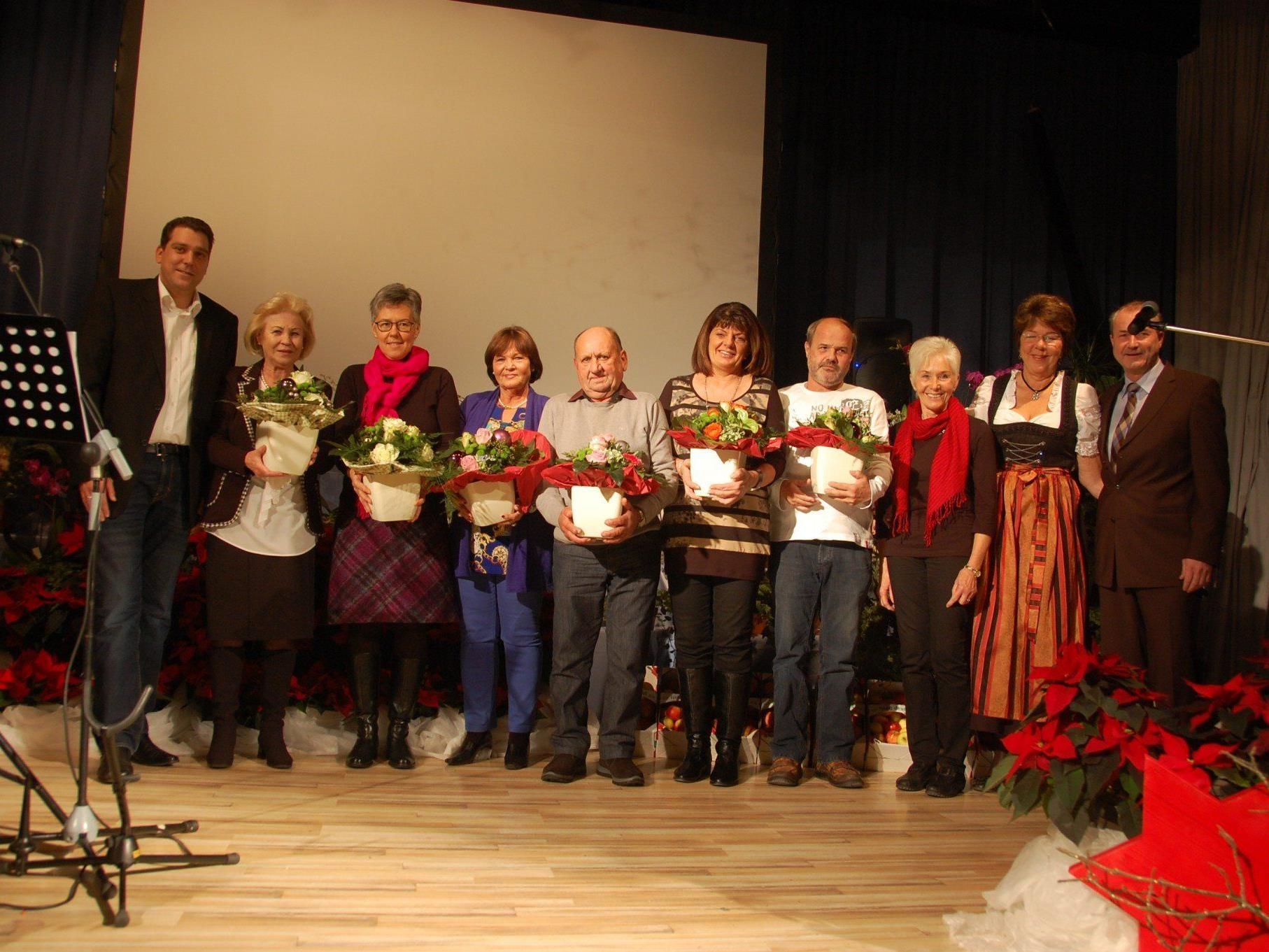 Die für den Landesbewerb nominierten Gartenfreund wurden geehrt