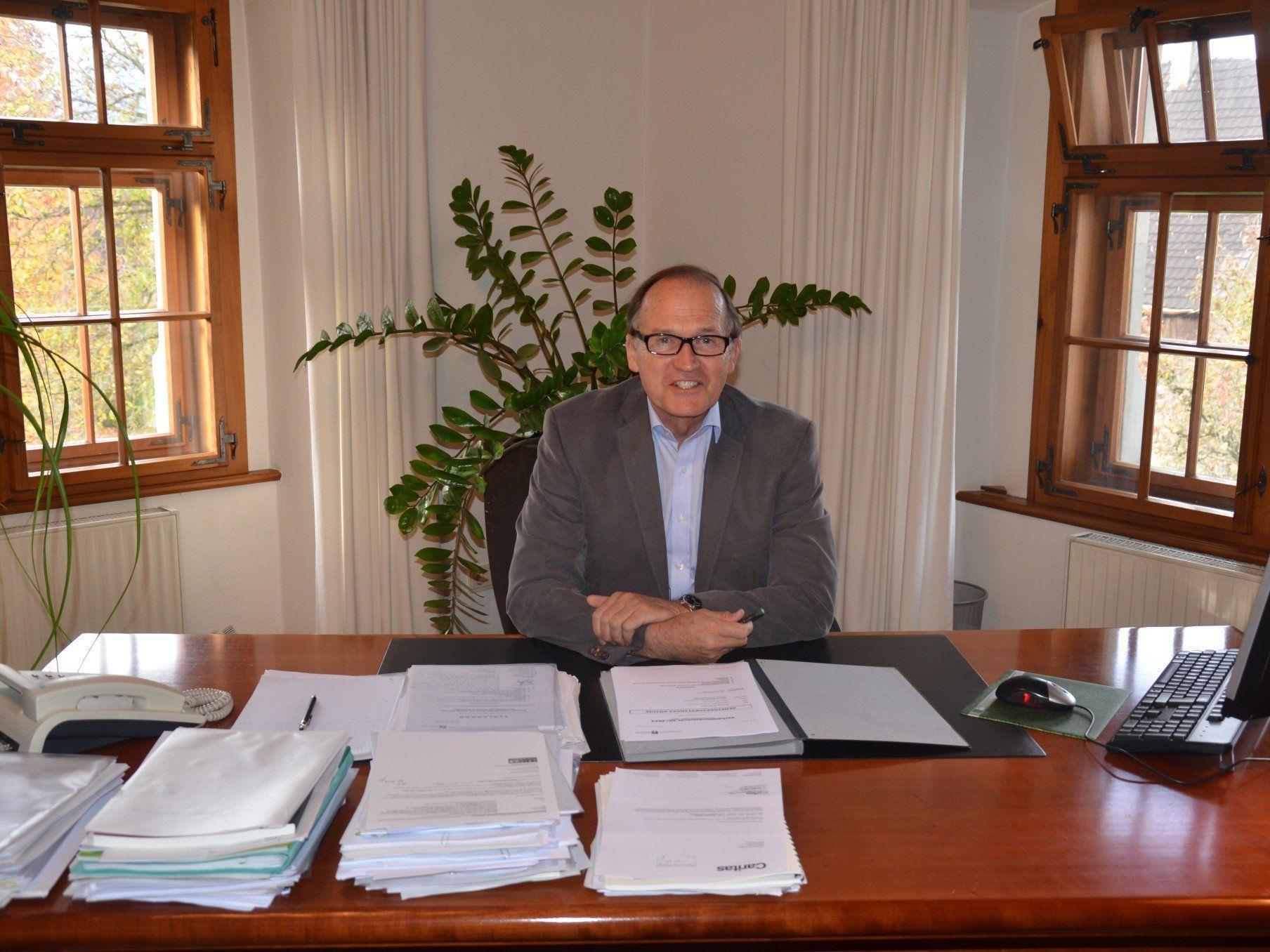 Bürgermeister Norbert Mähr tritt Ende des Jahres von der Politbühne ab.