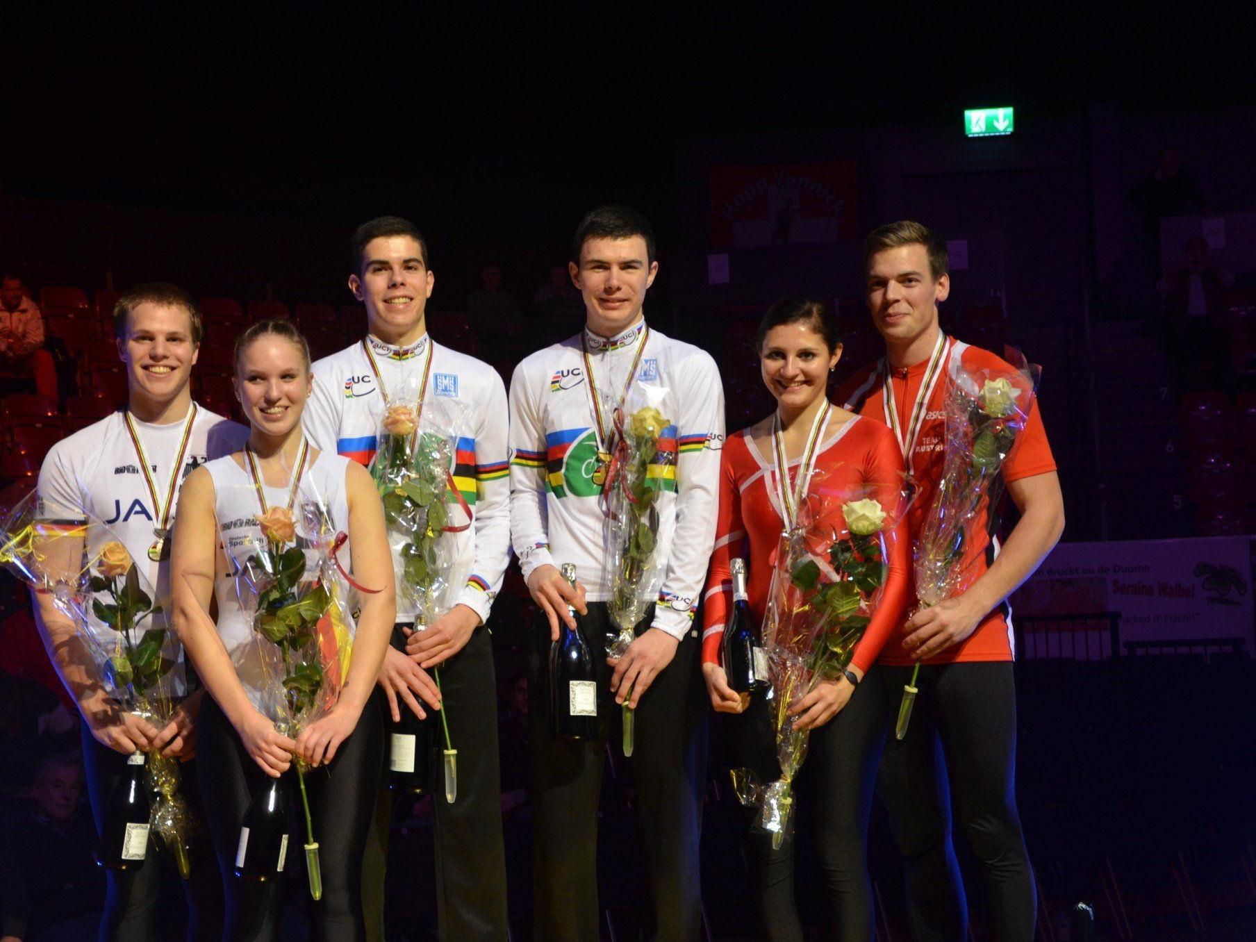 Bronze für das Meininger Duo Adriana Mathis und Fabian Allgäuer.