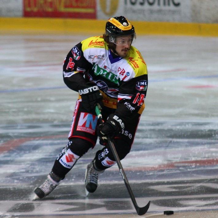 Diethard Winzig ist für die VEU Feldkirch eine echte Verstärkung und er traf auch zum 2:1 ins Schwarze.