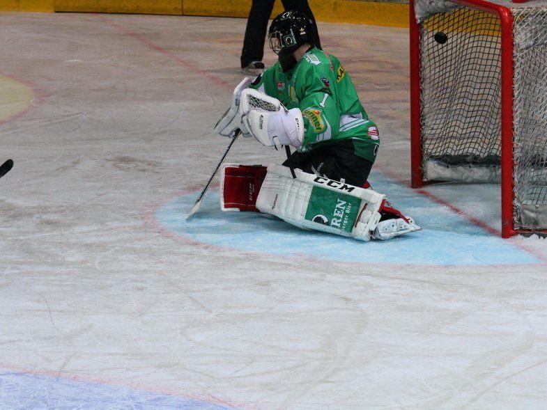 Bregenzerwald-Goalie Östlund musste zweimal hinter sich greifen.