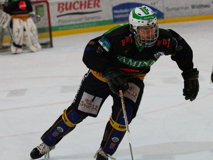 Verteidiger Markus Moosbrugger schoss das 1:0 für Rankweil, aber gegen Uzwil setzte es eine 4:6-Niederlage.