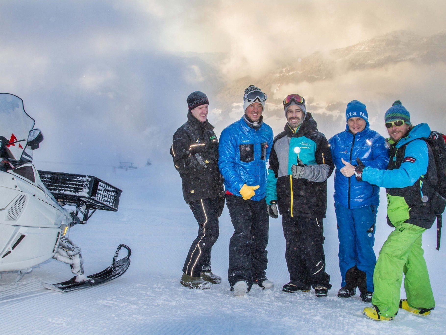 Die FIS-Schneekontrolle der Verantwortlichen für den WC im Montafon verlief sehr positiv.