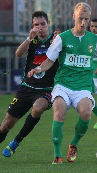 Der Meininger Simon Kühne spielt für das U-21-Team aus Liechtenstein gegen Lettland.