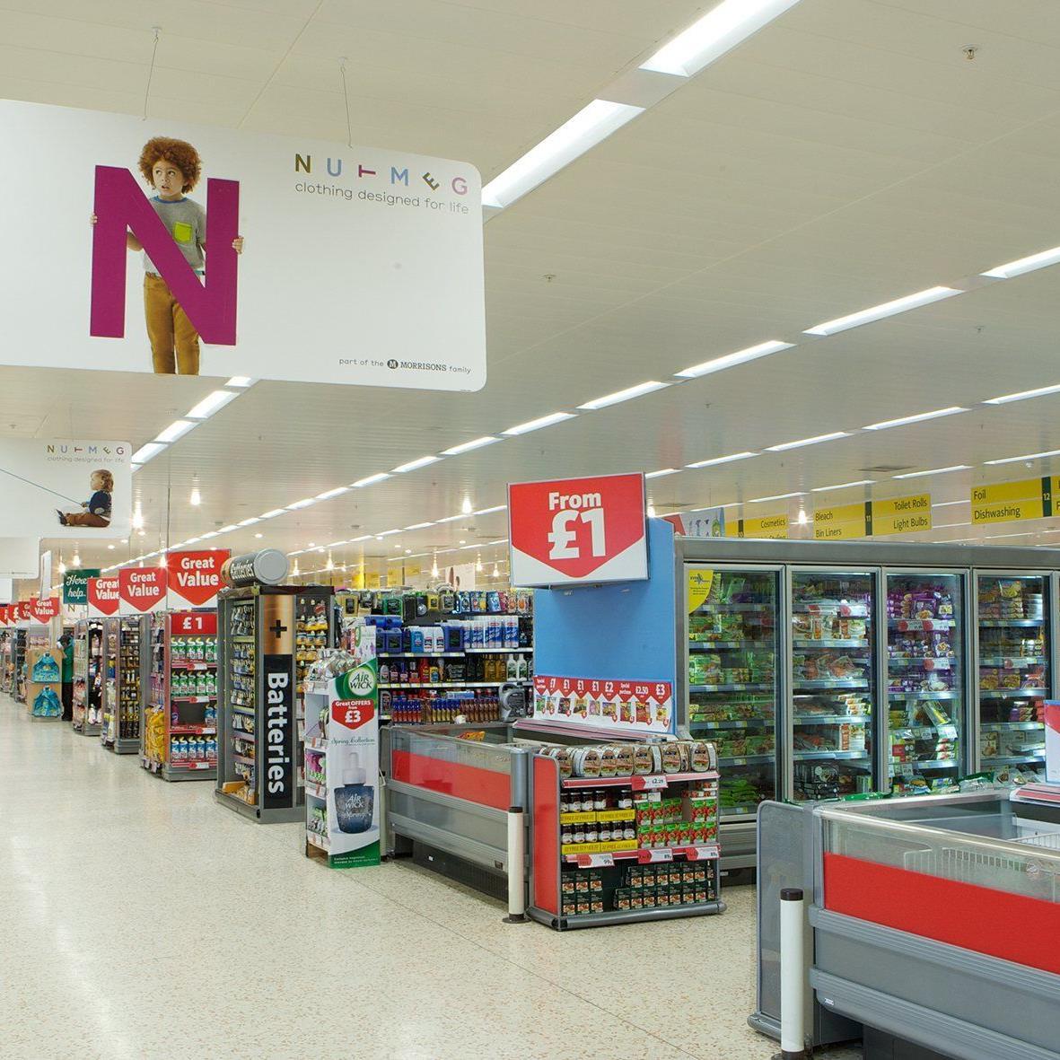Zumtobel-Marke Thorn rüstet 56 Supermarktfilialen auf LED-Beleuchtung um.