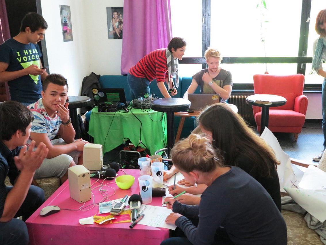 Die Jugendlichen vom Haus Noah hatten die Möglichkeit, im JAM an einem Medienworkshop teilzunehmen