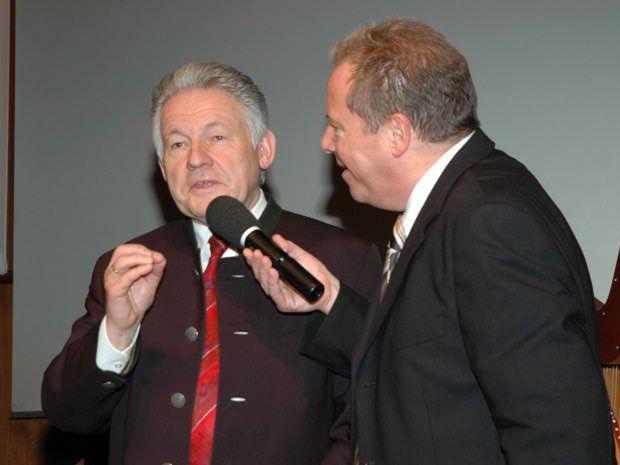 Pühringer mit R. Kalin bei 25 Jahr Feier in Bregenz