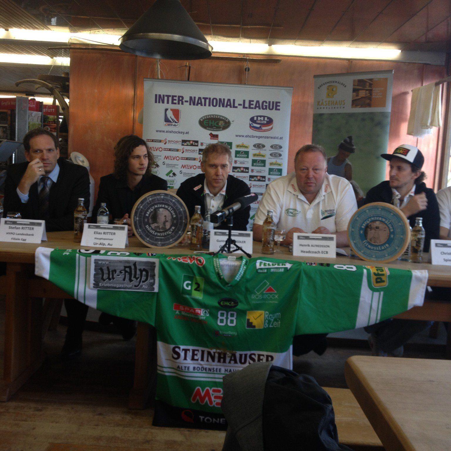 Erstmals lud der Meister EHC Bregenzerwald die Medienvertreter zu einer PK ein.