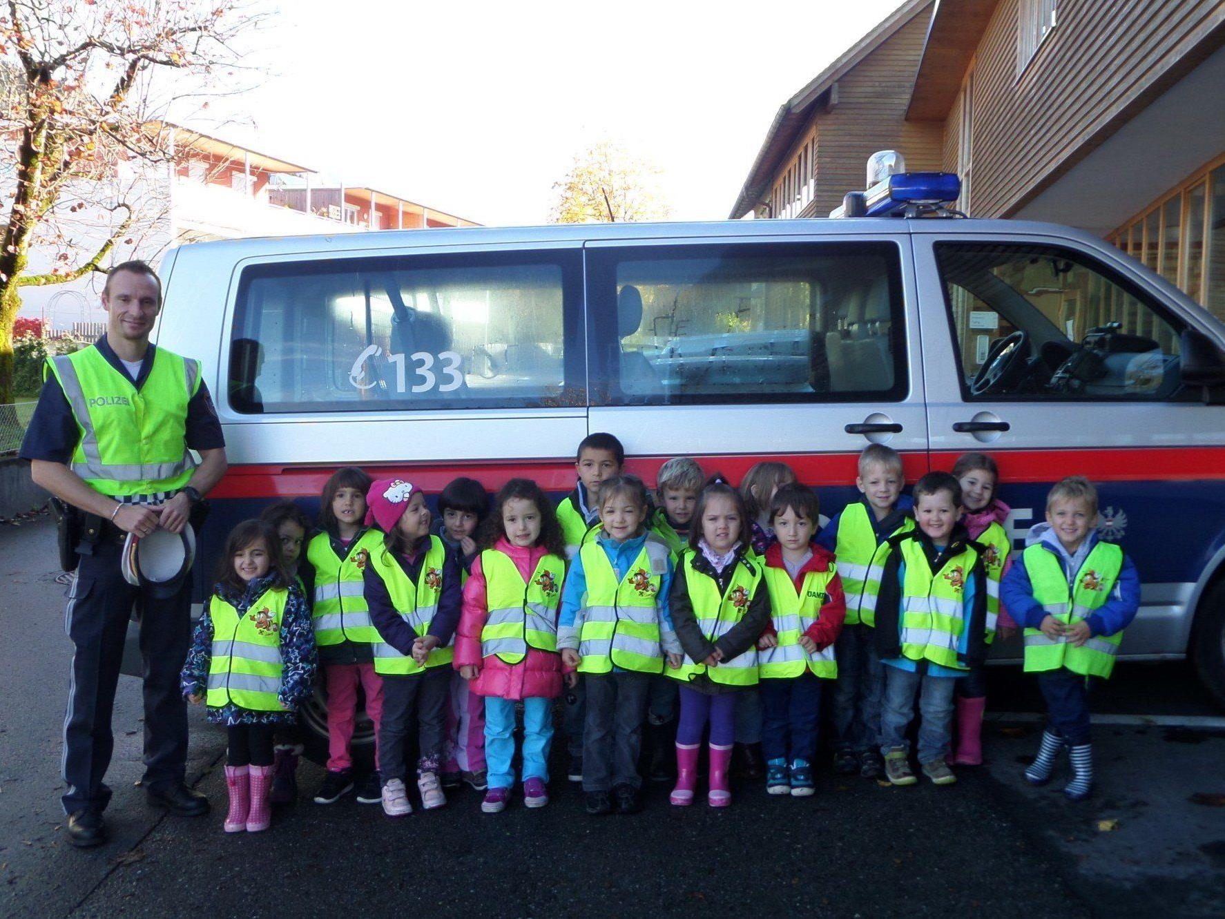 Verkehrserziehung im Kindergarten Bludesch