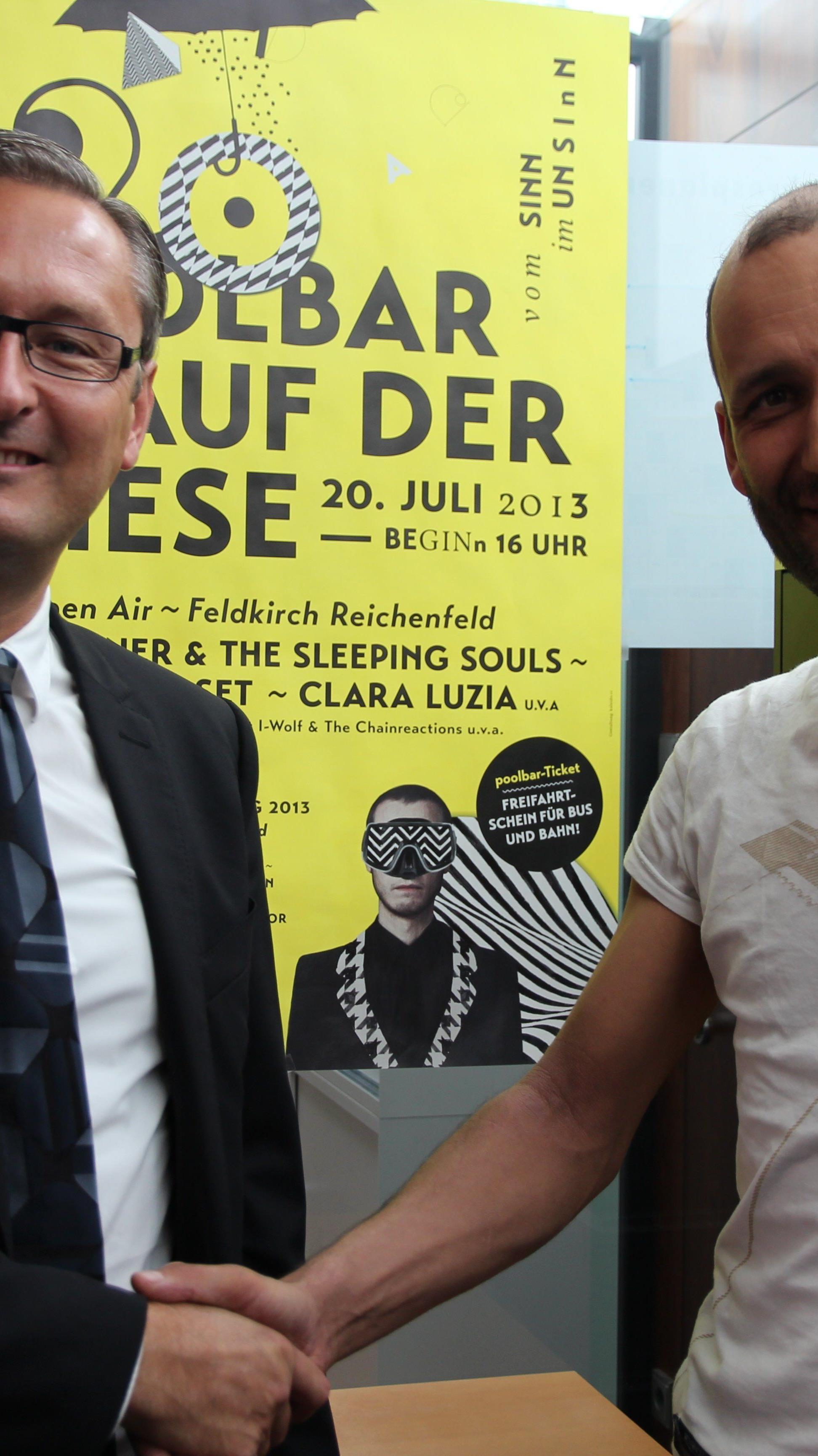 Vorstandsvorsitzender Betr.oec Gerhard Hamel und poolbar-GF Herwig Bauer.