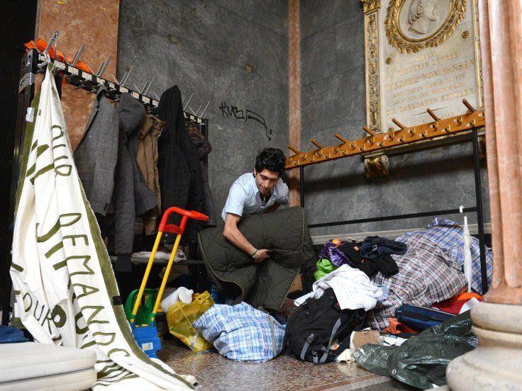 24 Flüchtlinge haben seit vergangener Woche in der Akademie der Bildenden Künste Zuflucht gefunden.