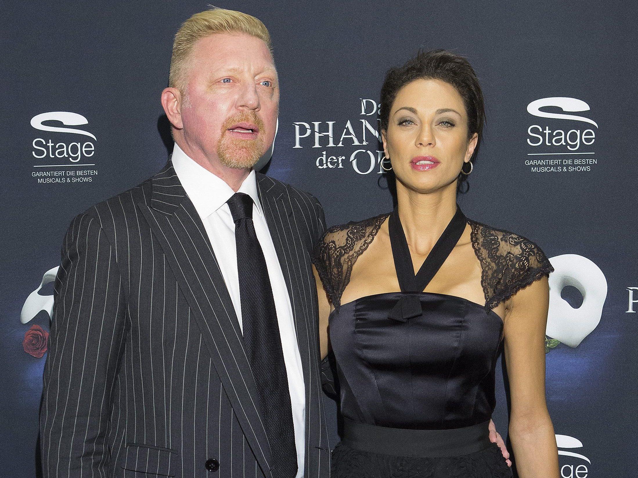 Premiere von Phantom der Oper in Hamburg: Boris und Lilly Becker.