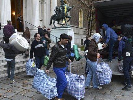 Am Dienstag haben die Flüchtlinge die Akademie verlassen.