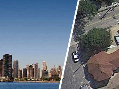 """""""Spire"""" in Chicago und ein Gotteshaus im US-Bundesstaat Illinois."""