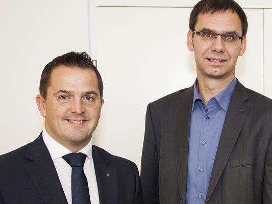 LH Wallner mit Jürgen Kessler, Leiter des ÖVP-Bürgerbüros und neuer Bezirkskoordinator für Feldkirch.