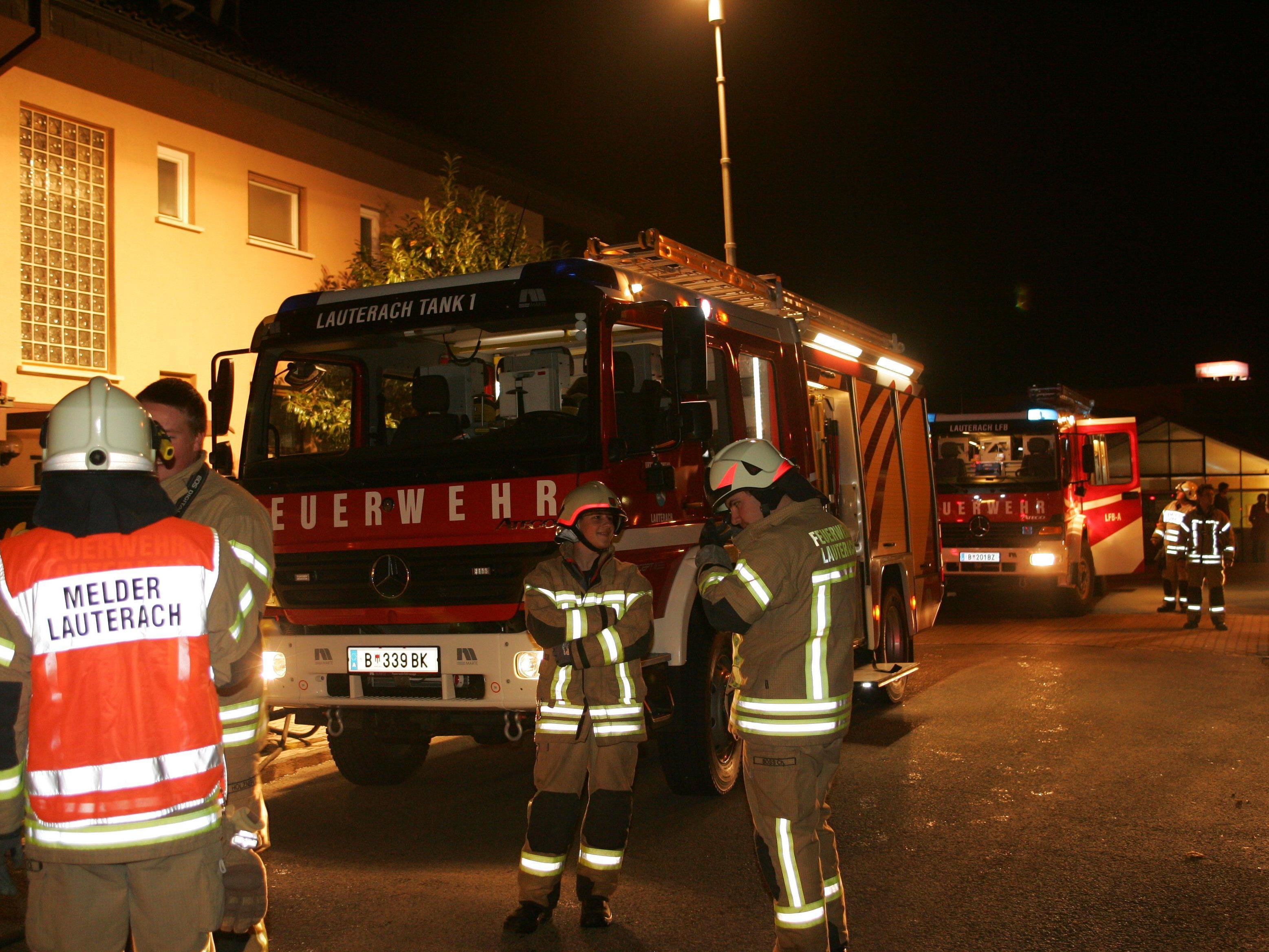Zu Löschen gab es für die Lauteracher Feuerwehr zum Glück nichts.