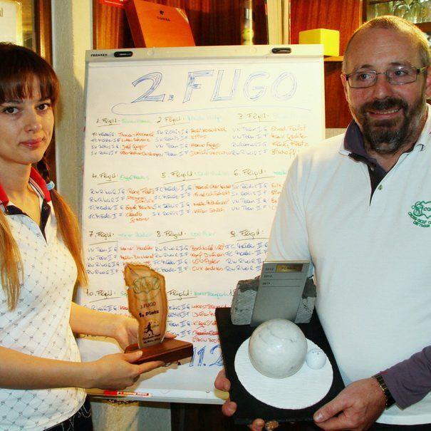 Mirela und Dietmar Kilga vom Crossgolfclub Mäder sorgen beim FUGO für einen professionellen Ablauf.