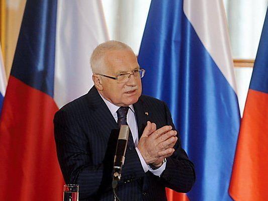 Umstrittene Aktion von Ex-Präsident Vaclav Klaus