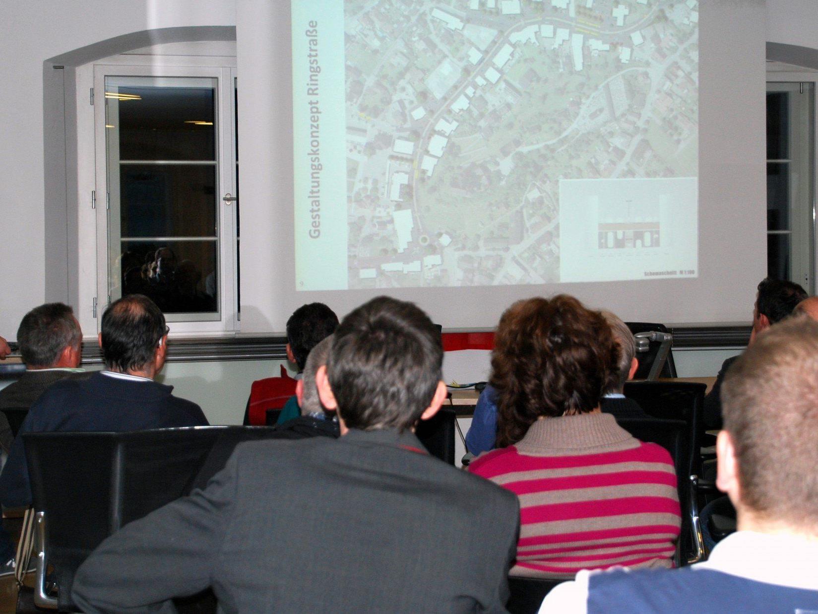 Großes Interesse bei der Präsentation des ersten Planentwurfs für die Neugestaltung der Ringstraße