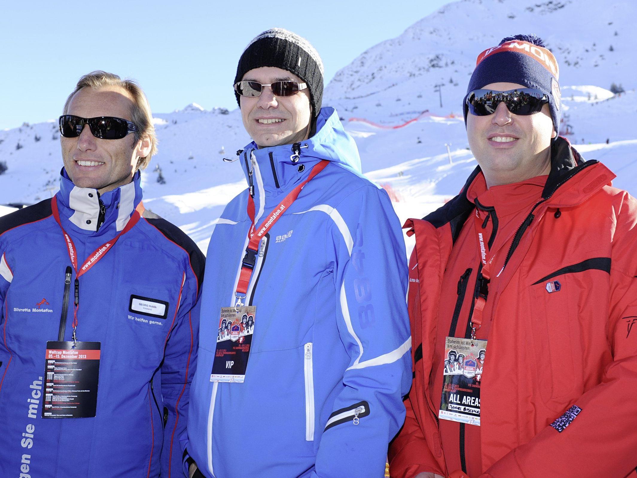 Siegerehrung mit den OK Chefs mit LH Markus Wallner .