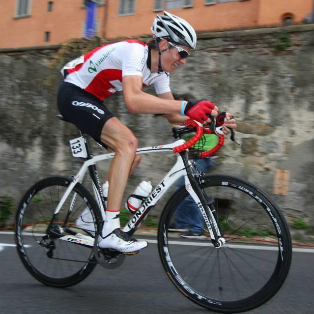 Adrien Chenaux tritt für das Vorarlberger Radteam in die Pedale.
