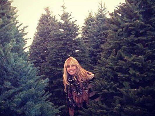 Heidi Klum hat heuer sechs Weihnachtsbäume zu schmücken.