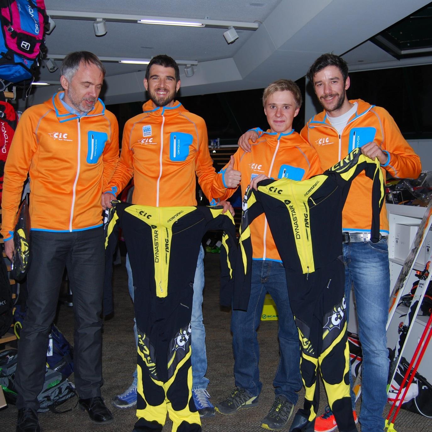 Das neue Dynastar Skibergsteiger Team mit Johannes Graf, Klaus Drexel, Andreas Neuper und David Kögler.