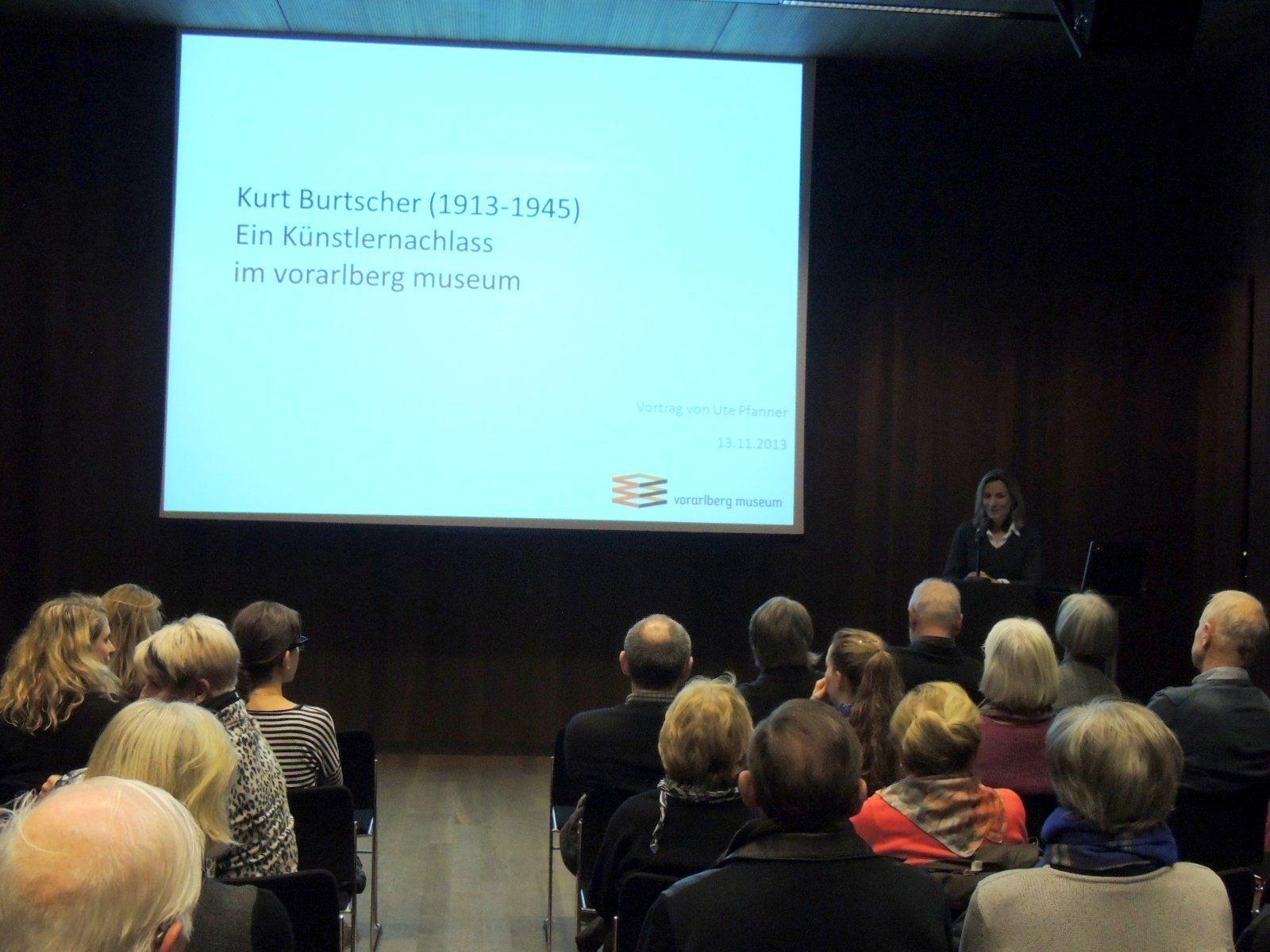 Ute Pfanner referierte über Leben und Werk des Künstlers Kurt Burtscher