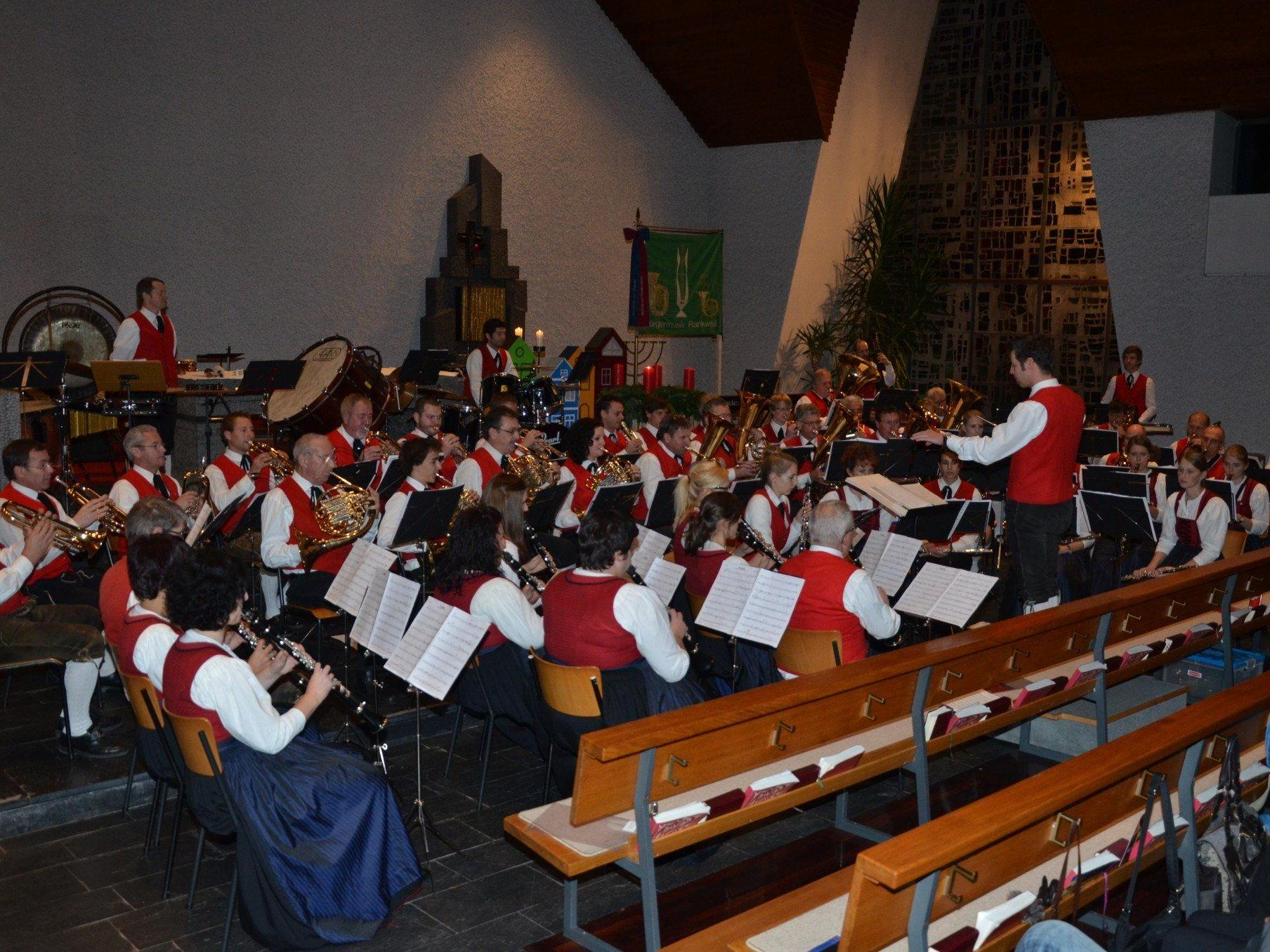 Die Bürgermusik Rankweil begeisterte bei ihrem Konzert die vielen Zuhörer restlos.