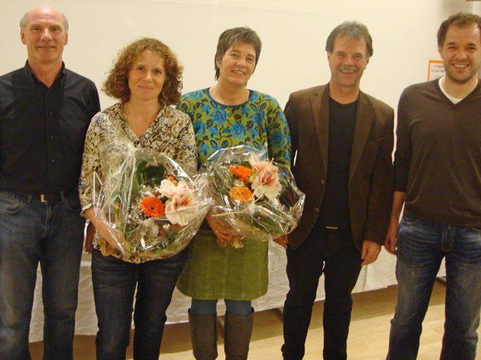 Vorstand Josef Berkmann, Bernadette Sutter, Vera Kofler, Hubert Mangold und Klaus Kienreich