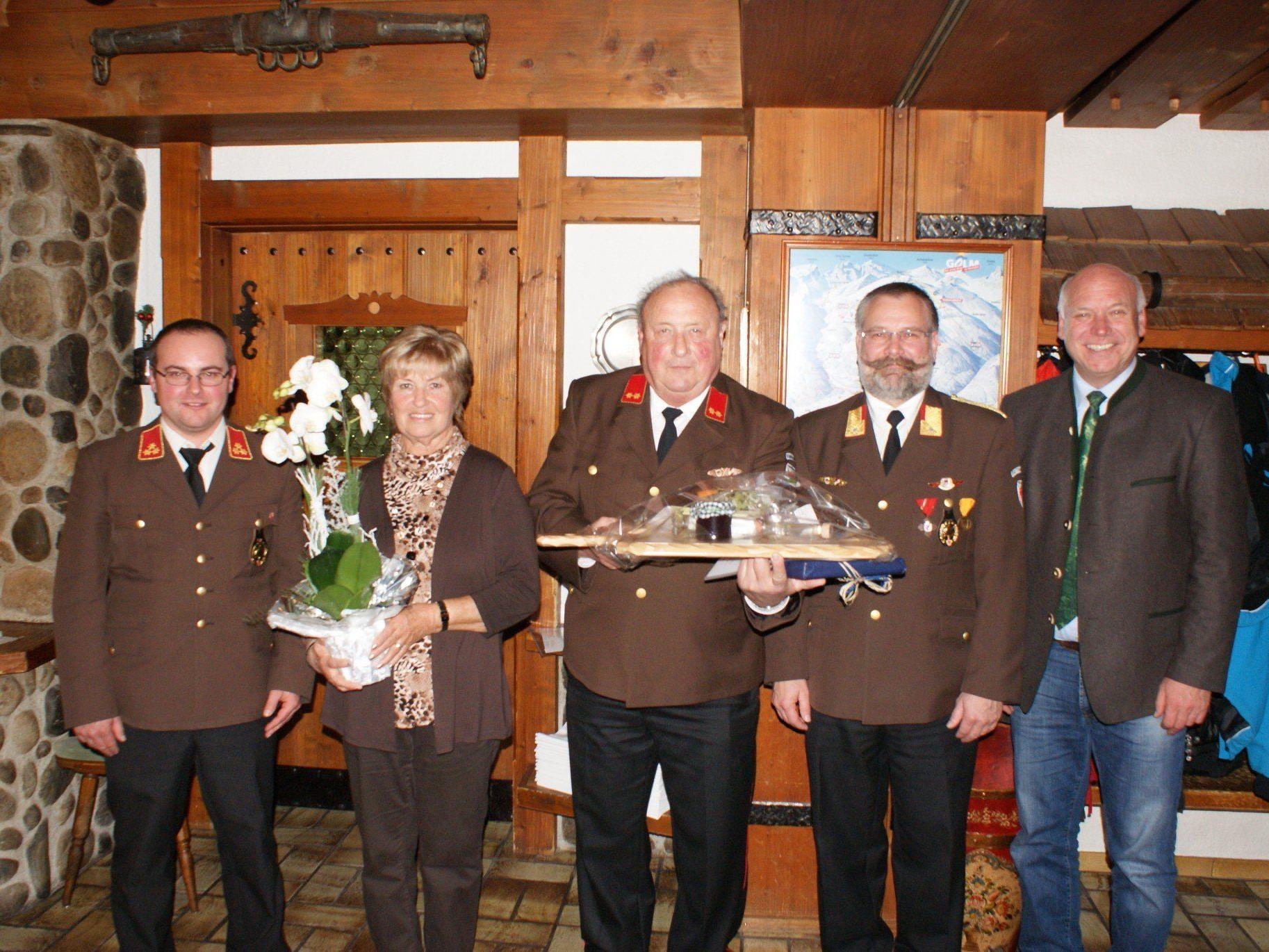 von links: Christoph Schapler, Roswitha Wachter, Edwin Wachter, Alexander Loretz, Burkhard Wachter