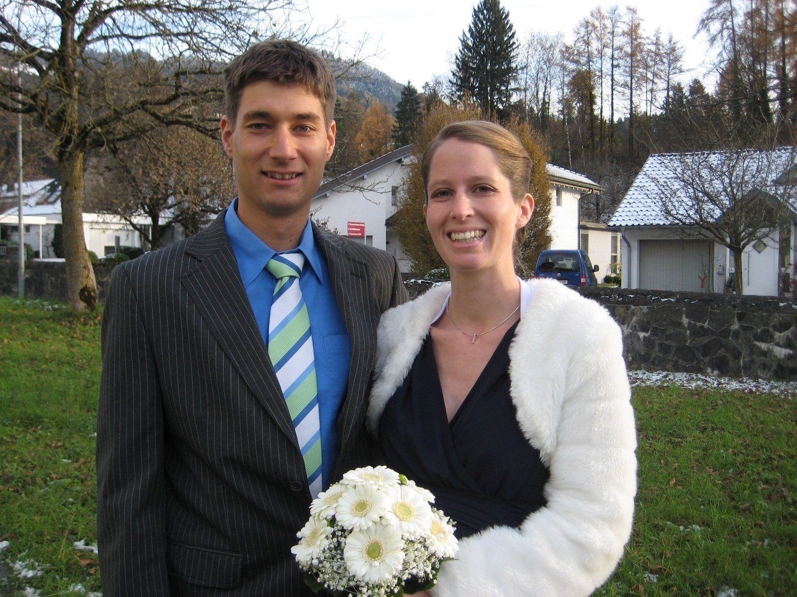 Elisabeth Marte und Alexander Burger haben geheiratet.