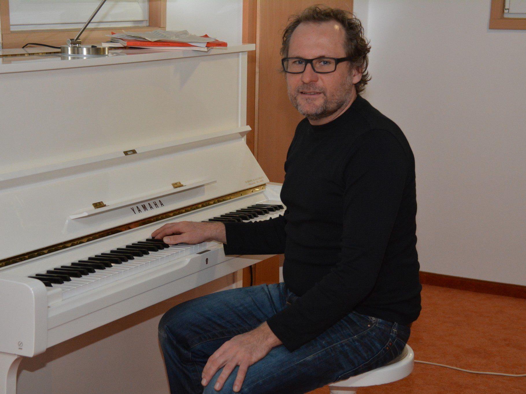 Herwig Hammerl in seinem Studio in der Seestraße.