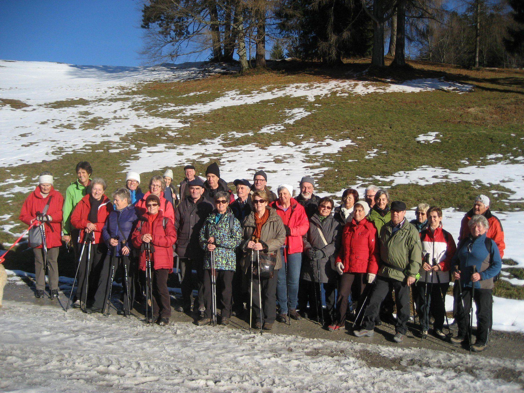 Die Wandergruppe des Lustenauer Seniorenbundes über Kehlegg