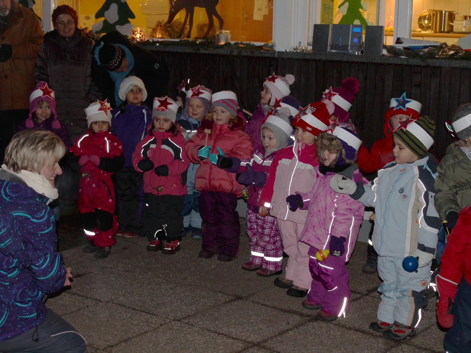 Schon die ganz Kleinen sangen toll mit!