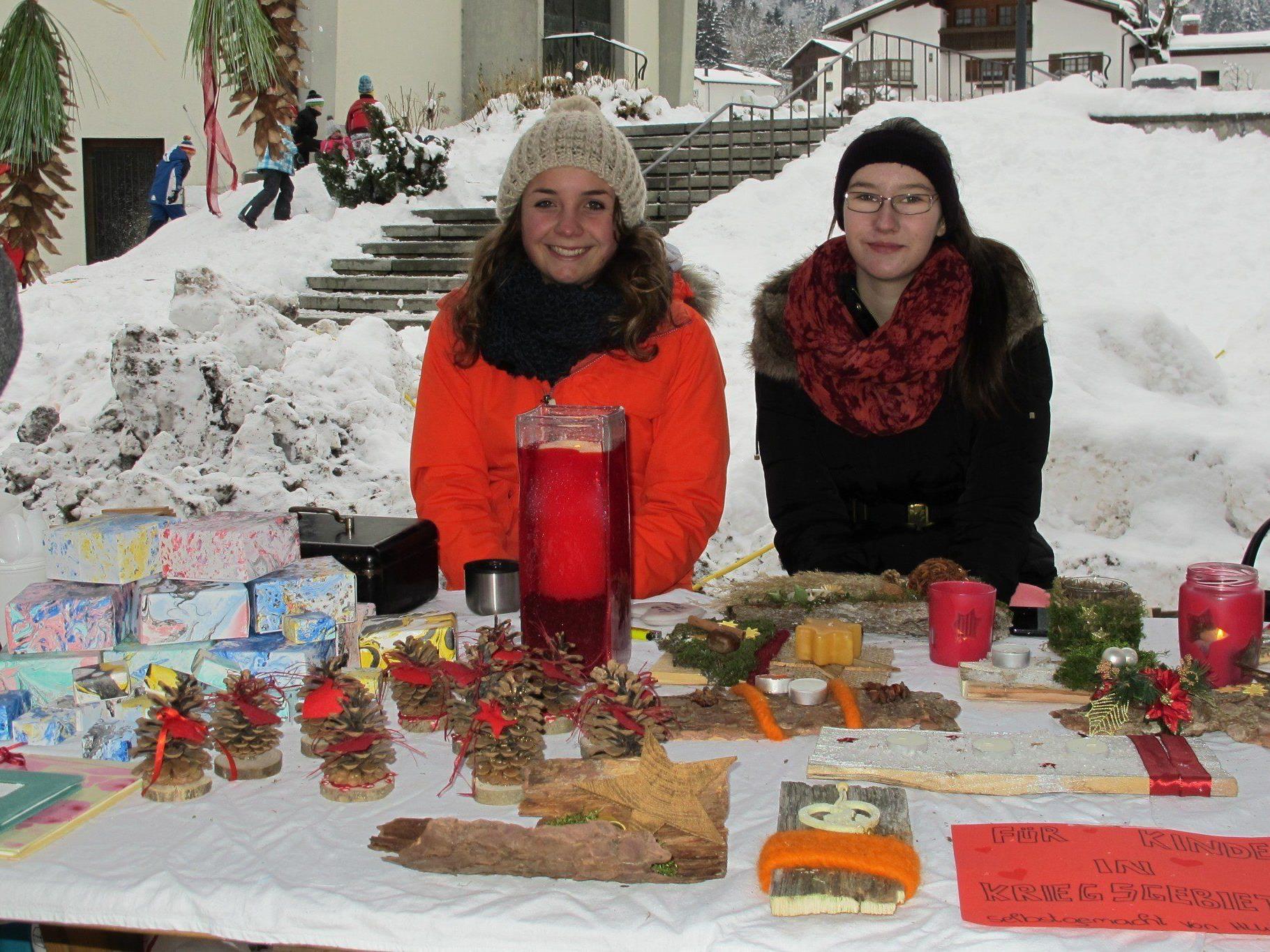 Tolle Unikate konnten beim Adventmarkt erworben werden.