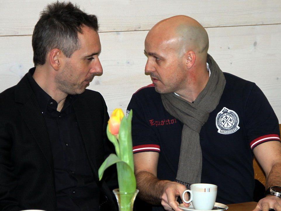 Jan Ove Pedersen (r.) übernimmt bis Saisonende das Traineramt in Hörbranz.