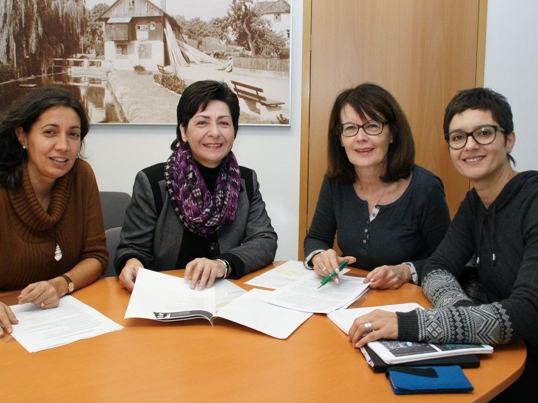 Michaela Blum, Rosi Meichenitsch, Eva-Maria Mair und Leila Götze
