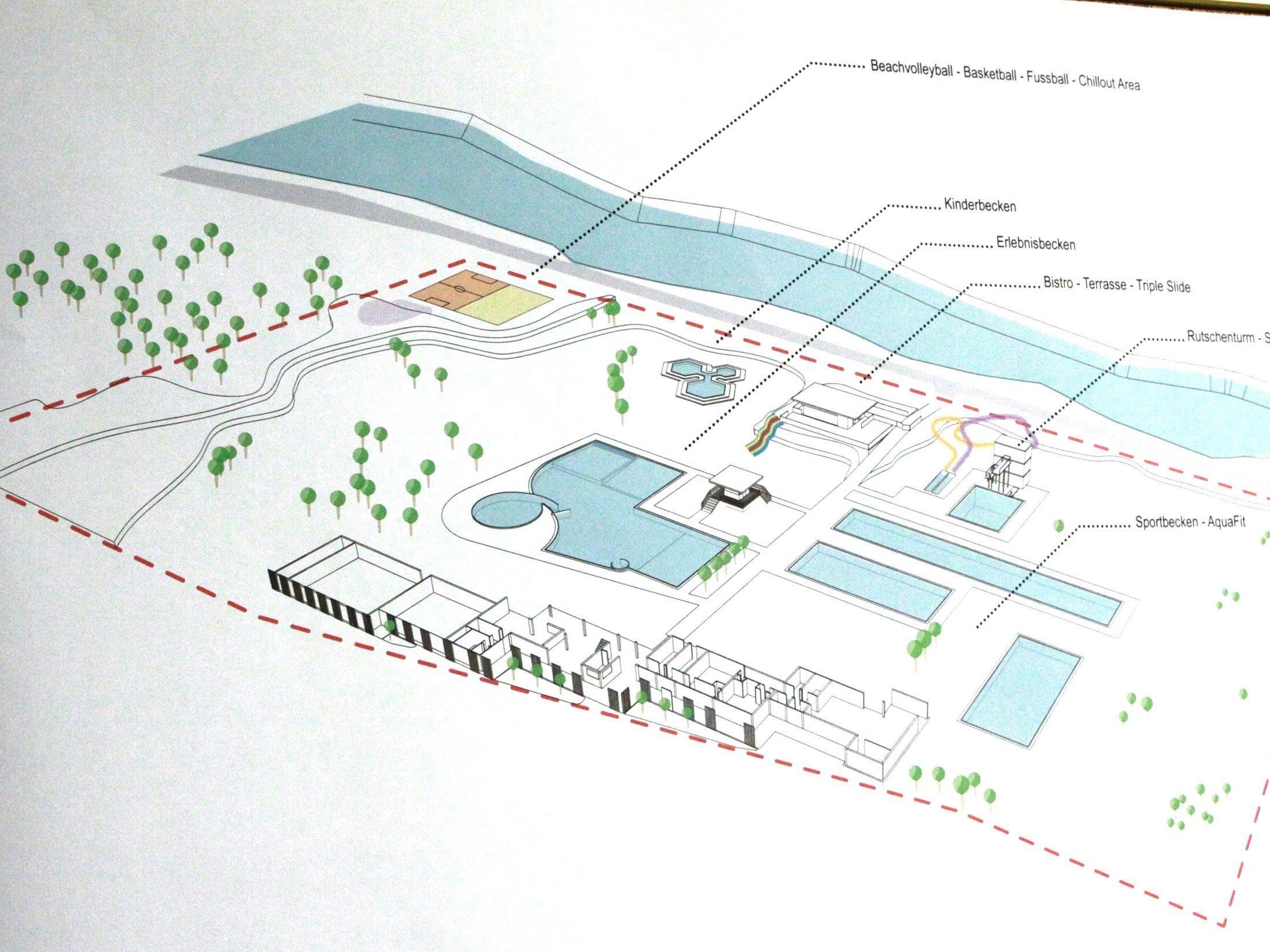 So soll das neue Walgaubad in Nenzing ab 2015 aussehen: Sechs Mio. Euro werden investiert.