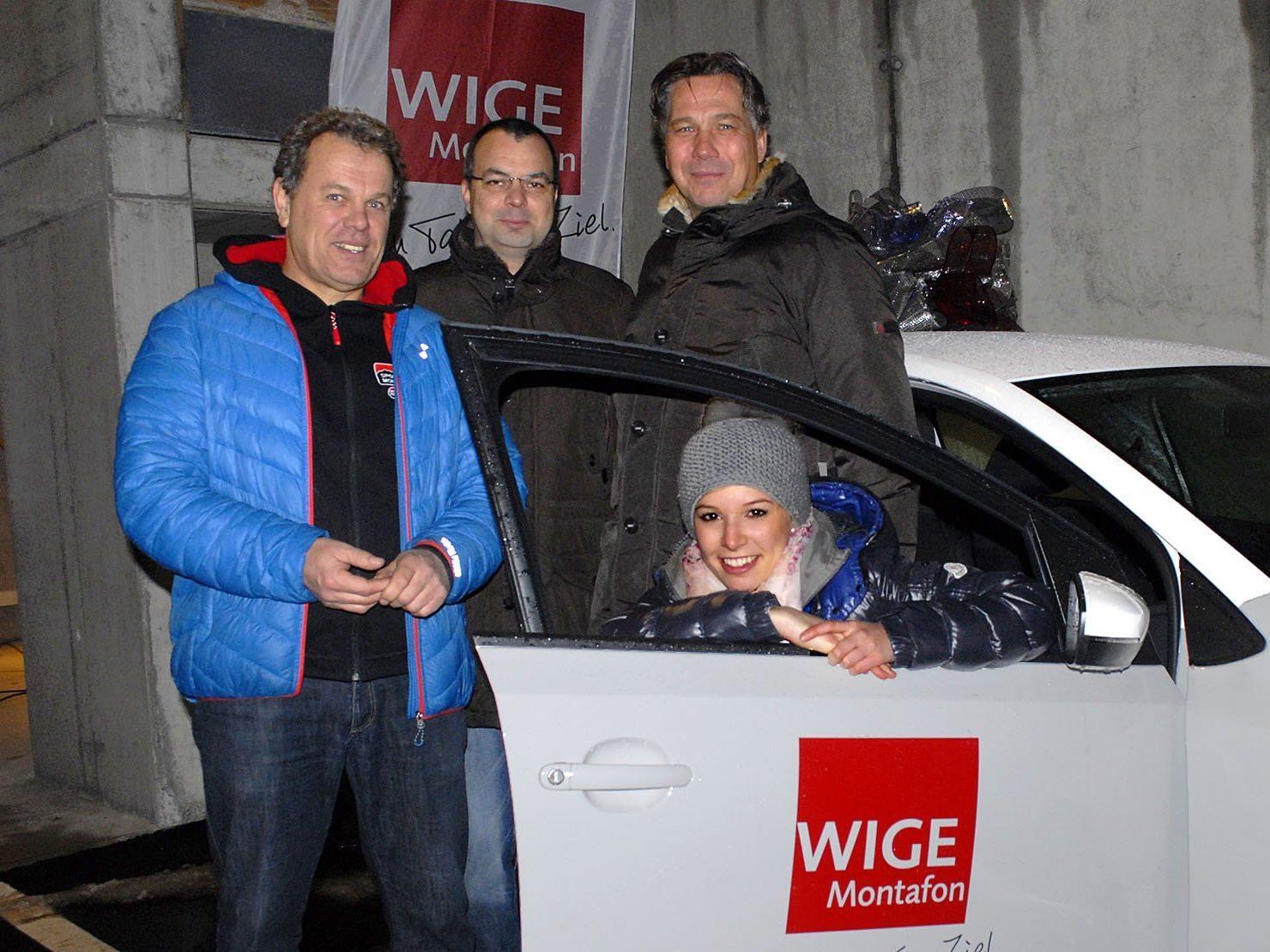 Das sparsame 60-PS-Auto gewann Stefanie Düngler aus St. Gallenkirch.
