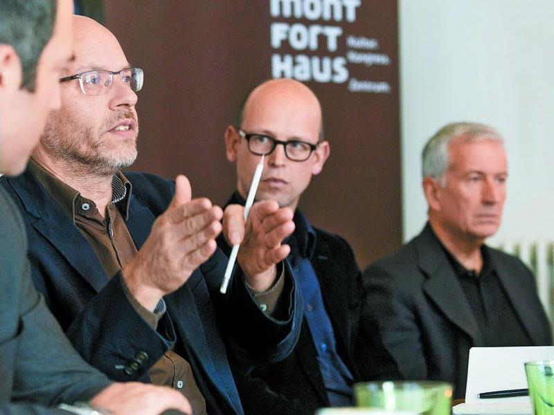 Im Februar 2015 geht das Programm an den Start: Folkert Uhde, Hans-Joachim Gögl und Bgm. Wilfried Berchtold.