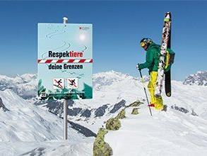 """Die Aktion """"Respektiere deine Grenzen"""" des Landes Vorarlberg weist auf die besondere Sensibilität alpiner Ökosysteme hin"""