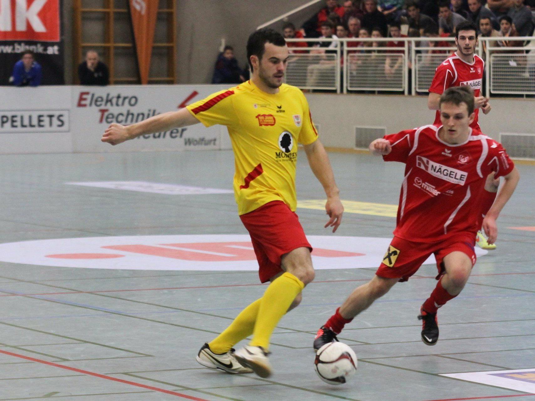 FC RW Rankweil 1b hofft auf das Erreichen eines Startplatzes beim Wolfurter Hallenmasters.