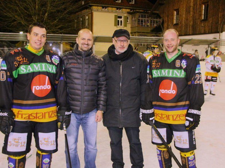Initiatoren des Volksfest auf der Gastra: Michal Kopas, Günther W. Amann, Milos Holan, Philipp Amann.